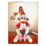 Ernie the Sock Monkey 35th Birthday Card