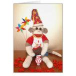 Ernie the Sock Monkey 5th Birthday Card