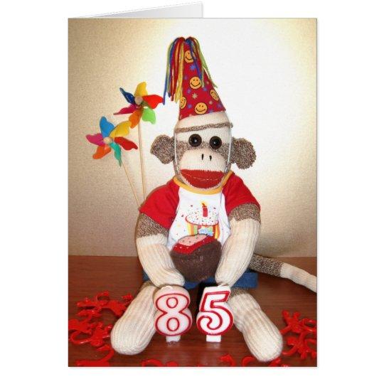 Ernie the Sock Monkey 85th Birthday Card