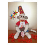 Ernie the Sock Monkey 8th Birthday Card