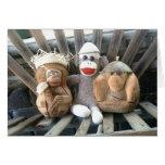 Ernie the Sock Monkey and Friends Note Card
