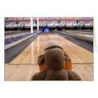 Ernie the Sock Monkey Bowling Note Card