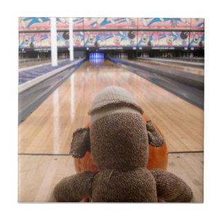 Ernie the Sock Monkey Bowling Tile