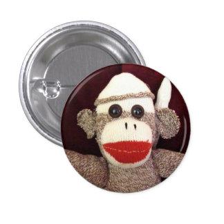 Ernie the Sock Monkey Face Pin