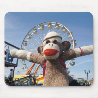 Ernie the Sock Monkey Ferris Wheel Mousepad