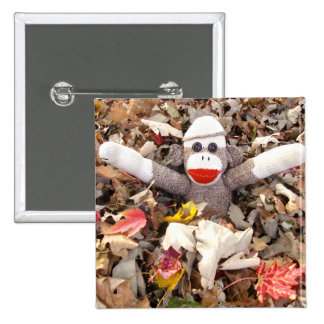 Ernie the Sock Monkey Leaf Pile Pin