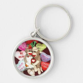 Ernie the Sock Monkey Love Hearts Keychain