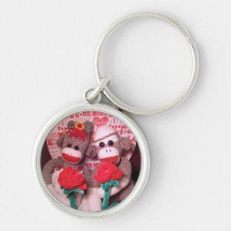 Ernie the Sock Monkey Love Keychain