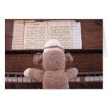 Ernie the Sock Monkey Piano Card