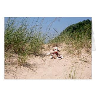 Ernie the Sock Monkey Sand Dunes Blank Card