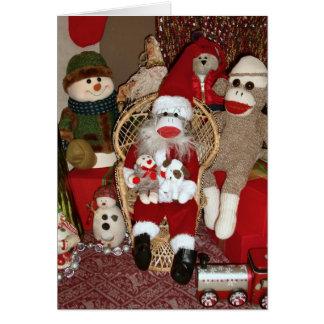 Ernie the Sock Monkey Santa Card