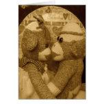 Ernie the Sock Monkey Sepia Valentine's Day Card