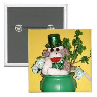 Ernie the Sock Monkey St Patrick s Day Pin