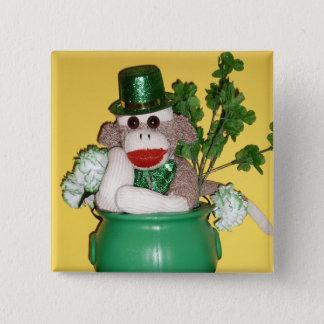 Ernie the Sock Monkey St. Patrick's Day Pin