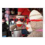 Ernie the Sock Monkey Sunglasses Note Card