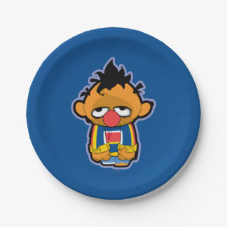 Ernie Zombie 7 Inch Paper Plate