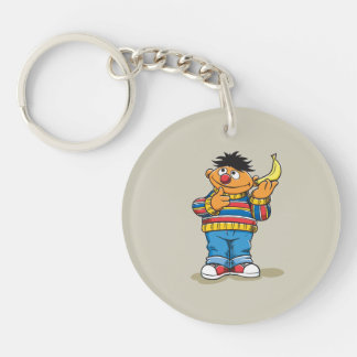 Ernie's Bananas Double-Sided Round Acrylic Keychain