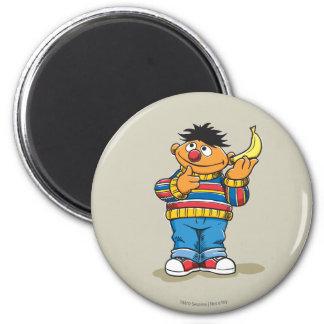 Ernie's Bananas 2 Inch Round Magnet