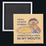 """ErnieYeah, I&#39;m into Fitness Magnet<br><div class=""""desc"""">This cute vintage graphic features Ernie with the Quote,  &quot;Fitness,  I&#39;m into fitness&#169;  Fitness whole pizza in my mouth.&quot;   This item is recommended for ages 13 . &#169;  2014 Sesame Workshop. www.sesamestreet.org</div>"""