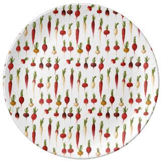 Ernst Benary's Radish Varieties Porcelain Plate