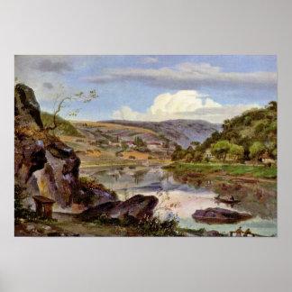 Ernst Frick - Stift Neuburg and Neckar Valley Posters
