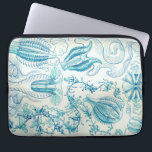 "Ernst Haeckel Ctenophorae Jellyfish Laptop Sleeve<br><div class=""desc"">Any of various marine invertebrates of the phylum Ctenophora, having transparent or translucent gelatinous bodiesbearing eight rows of comblike cilia used for swimming. Many ctenophores are bioluminescent. Also called combjelly. Ernst Heinrich Philipp August Haeckel was a German biologist, naturalist, philosopher, physician, professor, marine biologist, and artist who discovered, described and...</div>"