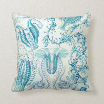 Ernst Haeckel Ctenophorae Jellyfish Throw Pillow