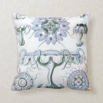 Ernst Haeckel Discomedusae Jellyfish Throw Pillow