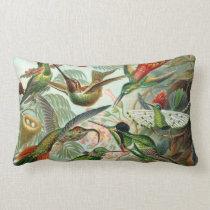 Ernst Haeckel Hummingbirds - Art Forms of Nature Lumbar Pillow