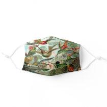Ernst Haeckel Hummingbirds Vintage Bird Chart Adult Cloth Face Mask