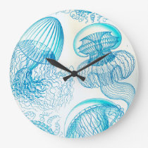 Ernst Haeckel Leptomedusae jellyfish Large Clock