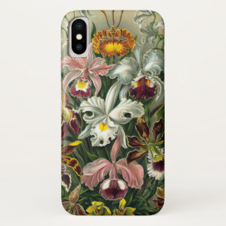Ernst Haeckel Orchids, Vintage Rainforest Flowers iPhone X Case