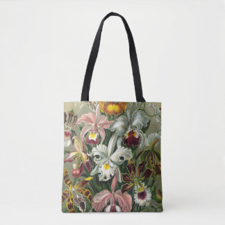 Ernst Haeckel Orchids, Vintage Rainforest Flowers Tote Bag