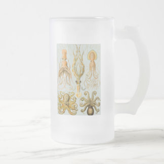 Ernst Haeckel's Gamochonia Frosted Glass Beer Mug