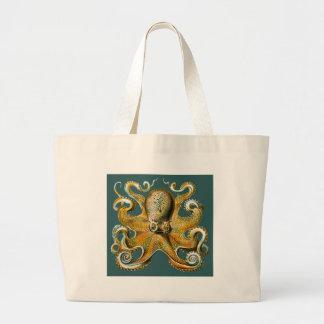 Ernst Haeckel's Octopus Large Tote Bag