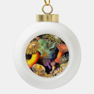 Ernst Haeckel Sea Anemones Vintage Art Ceramic Ball Christmas Ornament