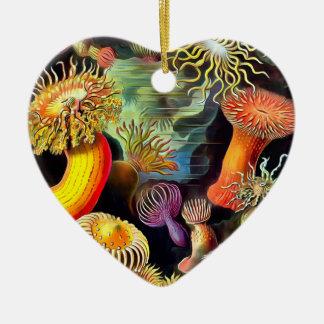 Ernst Haeckel Sea Anemones Vintage Art Ceramic Ornament