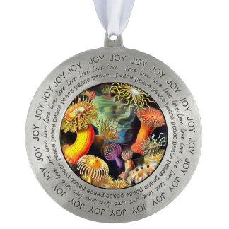 Ernst Haeckel Sea Anemones Vintage Art Pewter Ornament
