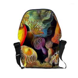 Ernst Haeckel Sea Anemones Vintage Art Small Messenger Bag