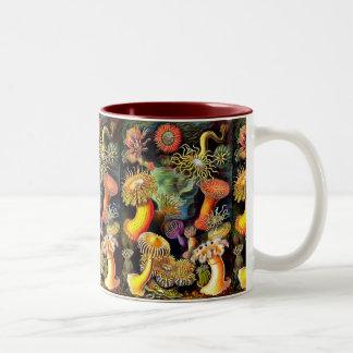 Ernst Haeckel Sea Anemones Vintage Art Two-Tone Coffee Mug