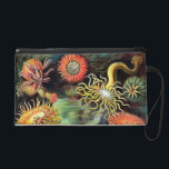 """Ernst Haeckel Sea Anemones Vintage Art Wristlet<br><div class=""""desc"""">Ernst Haeckel Sea Anemones Marine Vintage Illustration The 49th plate from Ernst Haeckel&#39;s natural history book &#39;Kunstformen der Natur&#39; (Art Forms In Nature) of 1904, showing various sea anemones classified as Actiniae. Victorian era science illustration in lush colors. Sea anemones are a group of water-dwelling, predatory animals of the order...</div>"""