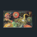 "Ernst Haeckel Sea Anemones Vintage Art Wristlet<br><div class=""desc"">Ernst Haeckel Sea Anemones Marine Vintage Illustration The 49th plate from Ernst Haeckel&#39;s natural history book &#39;Kunstformen der Natur&#39; (Art Forms In Nature) of 1904, showing various sea anemones classified as Actiniae. Victorian era science illustration in lush colors. Sea anemones are a group of water-dwelling, predatory animals of the order...</div>"