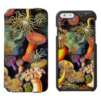 Ernst Haeckel Sea Anemones Vintage Art Incipio Watson™ iPhone 6 Wallet Case