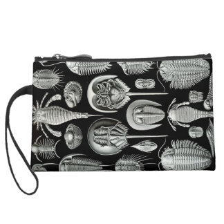 Ernst Haeckel Sueded Mini Clutch | Sea Life Wristlet Clutches