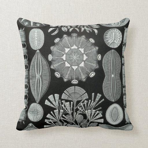 Ernst Haeckel throw pillow