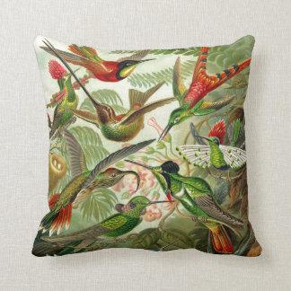 Ernst Haeckel Trochilidae Hummingbird Throw Pillow