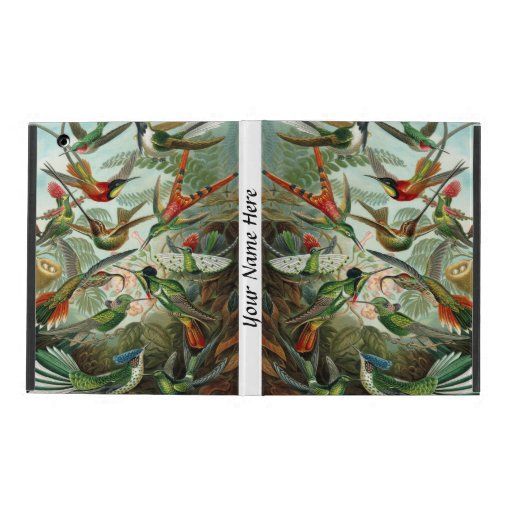 Ernst Haeckel vibrant and colorful hummingbirds iPad Covers