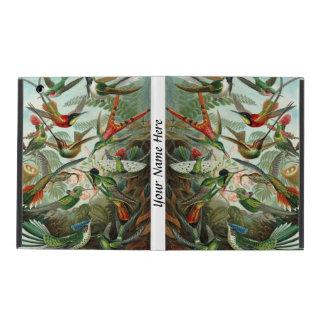 Ernst Haeckel vibrant and colorful hummingbirds iPad Folio Case
