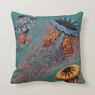 Ernst Haeckel's Disco Medusae Throw Pillow