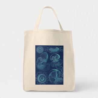 Ernst Haeckel's Leptomedusae (Dark Blue) Tote Bag